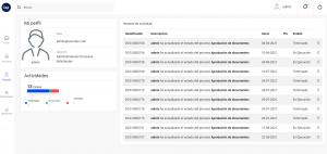 pantalla de perfil del usuario